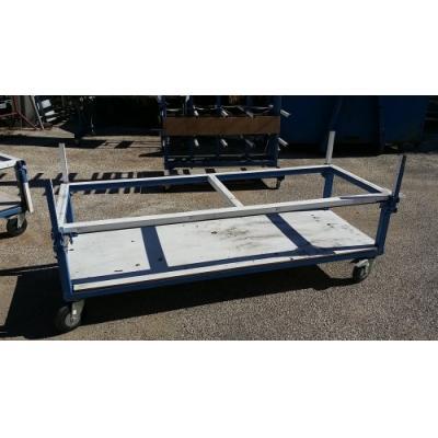 Chariot pour profilés aluminium