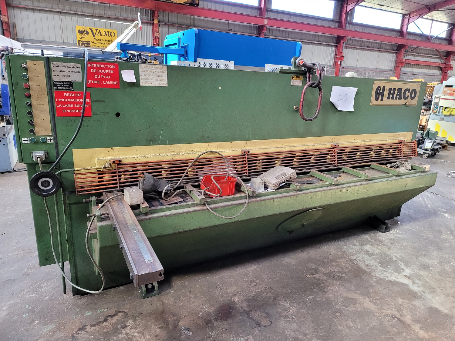 Cisaille guillotine hydraulique HACO HS306T