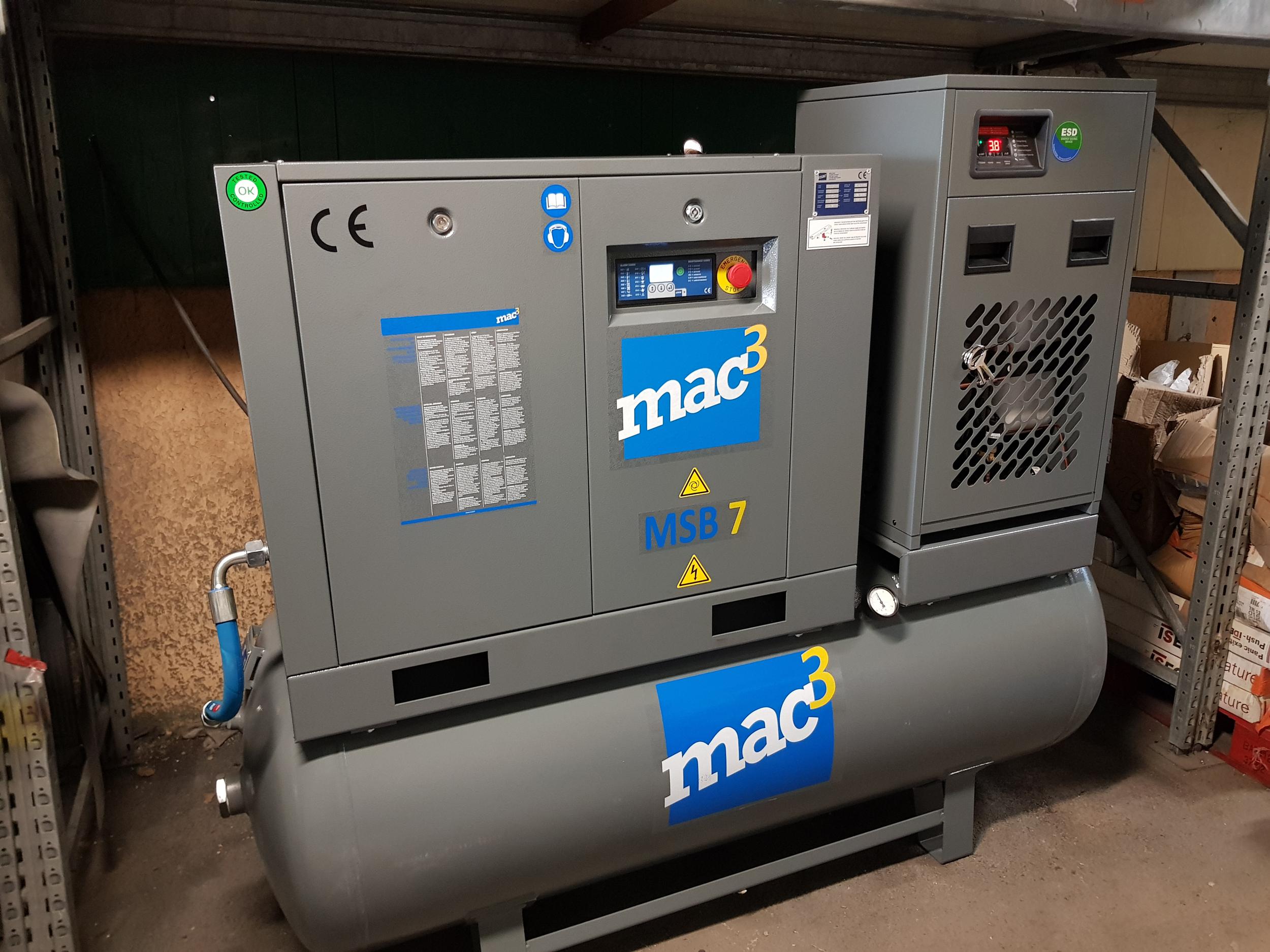 Compresseur à vis lubrifié MAC3 MSB7