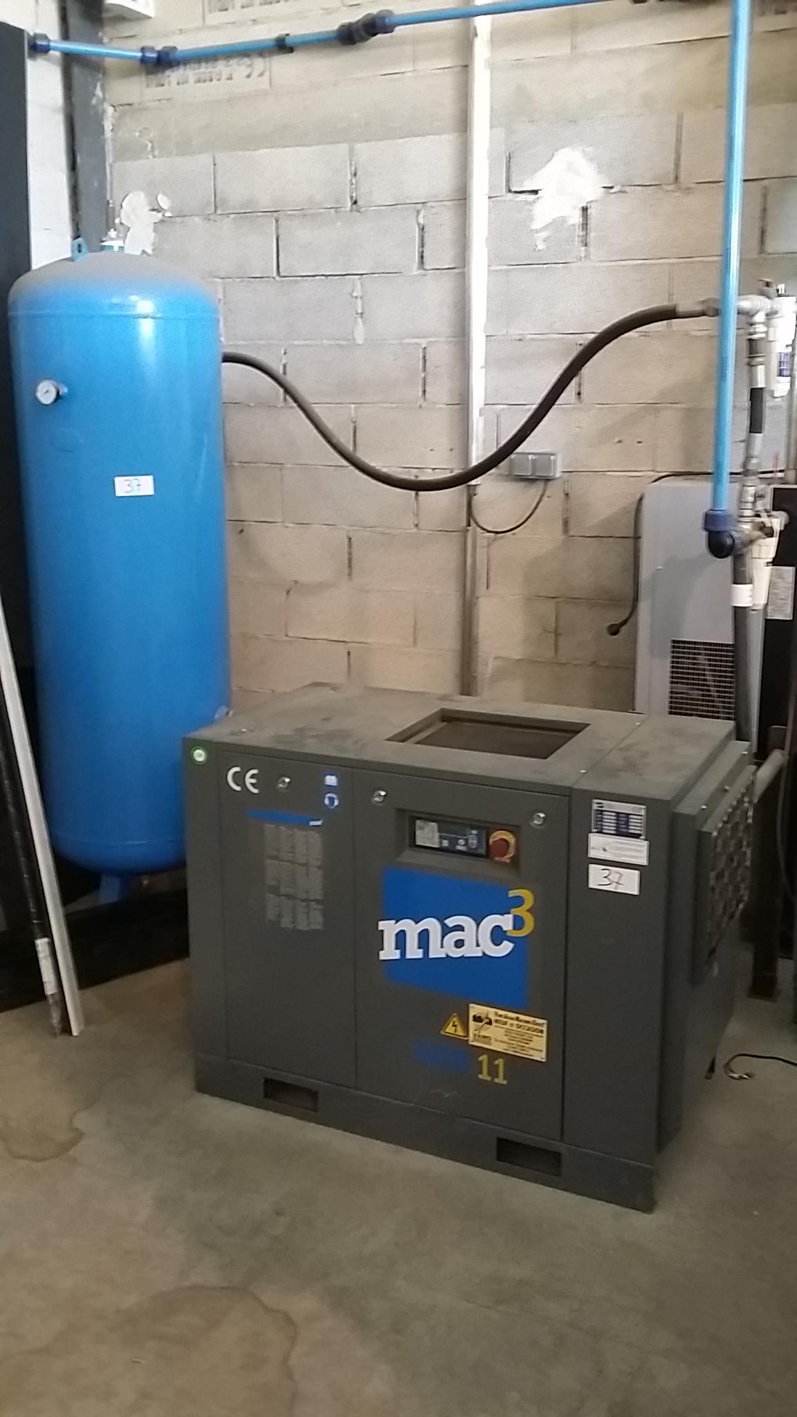 Compresseur à vis occasion MAC3 MSC 11
